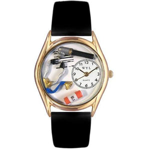 Doctor Watch Small Gold Style-Watch-Whimsical Gifts-Top Notch Gift Shop