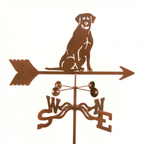 Lab Sitting Weathervane-Weathervane-EZ Vane-Top Notch Gift Shop