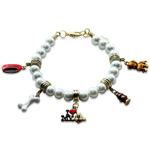Dog Lover Charm Bracelet in Gold-Bracelet-Whimsical Gifts-Top Notch Gift Shop