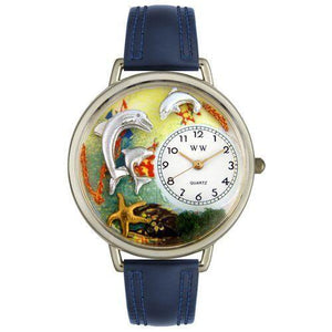 Dolphin Watch in Silver (Large)-Watch-Whimsical Gifts-Top Notch Gift Shop