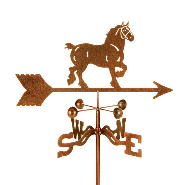 Draft Horse Weathervane-Weathervane-EZ Vane-Top Notch Gift Shop
