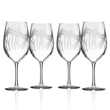 Dragonfly All Purpose Wine Glass, Set of 4 18oz