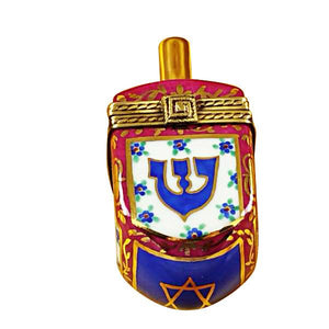 Dreidel Blue/Maroon Limoges Box by Rochard™-Limoges Box-Rochard-Top Notch Gift Shop
