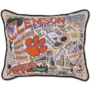 Clemson University Embroidered Catstudio Pillow-Pillow-CatStudio-Top Notch Gift Shop