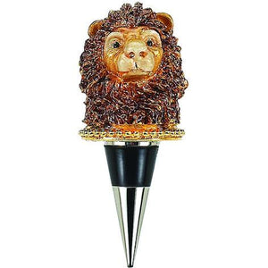 Enameled Lion Wine Bottle Stopper with Crystals-Bottle Stopper-Olivia Riegel-Top Notch Gift Shop