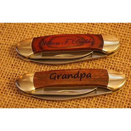 Engraved Century Folding Pocket Knife - Red Grain-Pocket Tool-Parker River Knife-Top Notch Gift Shop