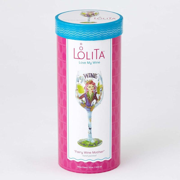 Fairy Wine Mother Wine Glass by Lolita®-Wine Glass-Designs by Lolita® (Enesco)-Top Notch Gift Shop