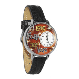 Faith Hope Love Joy in Silver (Large)-Watch-Whimsical Gifts-Top Notch Gift Shop