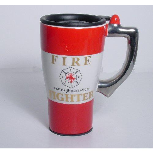 Fire Fighter Ceramic Travel Mug-Mug-BellAir Motorsport-Top Notch Gift Shop