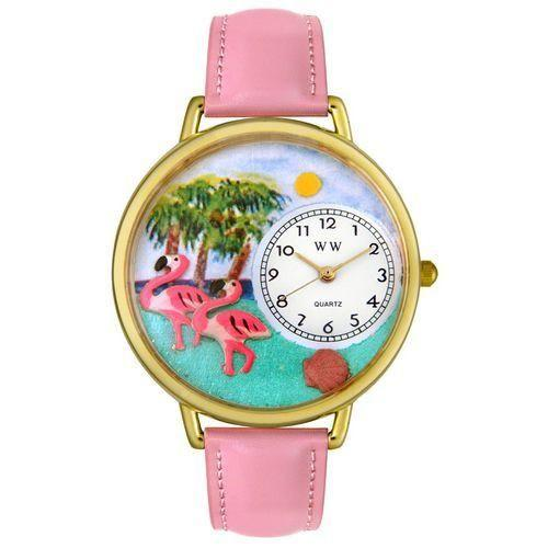 Flamingo Watch in Gold (Large)-Watch-Whimsical Gifts-Top Notch Gift Shop