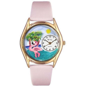 Flamingo Watch Small Gold Style-Watch-Whimsical Gifts-Top Notch Gift Shop