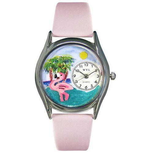 Flamingo Watch Small Silver Style-Watch-Whimsical Gifts-Top Notch Gift Shop
