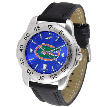 Florida Gators Mens AnoChrome Leather Band Sports Watch