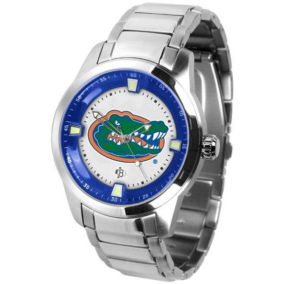 Florida Gators Men's Titan Stainless Steel Band Watch-Watch-Suntime-Top Notch Gift Shop