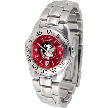 Florida State Seminoles Ladies AnoChrome  Steel Band Sports Watch