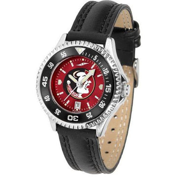 Florida State Seminoles Ladies Competitor Ano Poly/Leather Band Watch w/ Colored Bezel