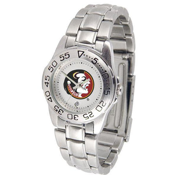 Florida State Seminoles Ladies Steel Band Sports Watch