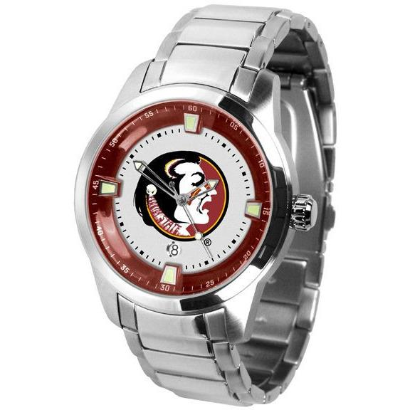 Florida State Seminoles Men's Titan Stainless Steel Band Watch-Watch-Suntime-Top Notch Gift Shop