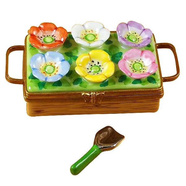 Flower Box With Spade Limoges Box by Rochard™-Limoges Box-Rochard-Top Notch Gift Shop