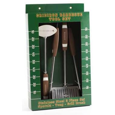 Football 3 Piece BBQ Tool Set-Barbeque Tool-Companion Group-Top Notch Gift Shop