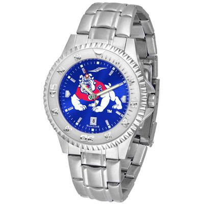 Fresno State Bulldogs Competitor AnoChrome - Steel Band Watch-Suntime-Top Notch Gift Shop