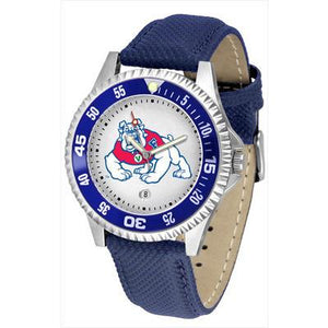 Fresno State Bulldogs Competitor - Poly/Leather Band Watch-Watch-Suntime-Top Notch Gift Shop