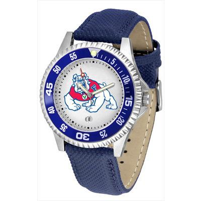 Fresno State Bulldogs Competitor - Poly/Leather Band Watch-Suntime-Top Notch Gift Shop