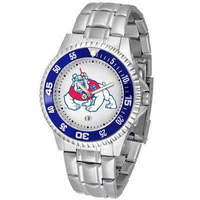 Fresno State Bulldogs Competitor - Steel Band Watch-Suntime-Top Notch Gift Shop