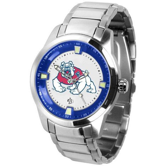 Fresno State Bulldogs Titan Stainless Steel Band Watch-Suntime-Top Notch Gift Shop