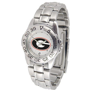 Georgia Bulldogs Ladies Steel Band Sports Watch-Watch-Suntime-Top Notch Gift Shop