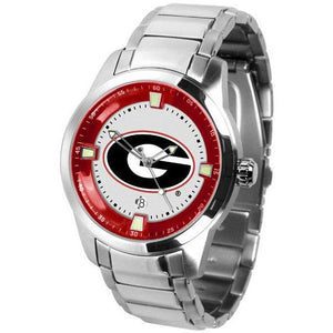 Georgia Bulldogs Men's Titan Stainless Steel Band Watch-Watch-Suntime-Top Notch Gift Shop