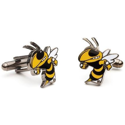 Georgia Tech Yellow Jackets Enamel Cufflinks-Cufflinks-Cufflinks, Inc.-Top Notch Gift Shop