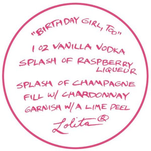 Birthday Girl, Too Wine Glass by Lolita®-Wine Glass-Designs by Lolita® (Enesco)-Top Notch Gift Shop