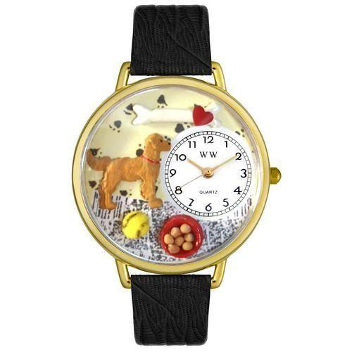 Golden Retriever Watch in Gold (Large)-Watch-Whimsical Gifts-Top Notch Gift Shop