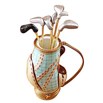 Golf Bag With 6 Clubs Limoges Box  by Rochard