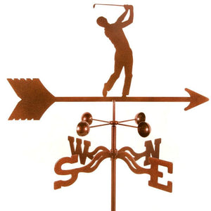 Golfer - Male Weathervane-Weathervane-EZ Vane-Top Notch Gift Shop