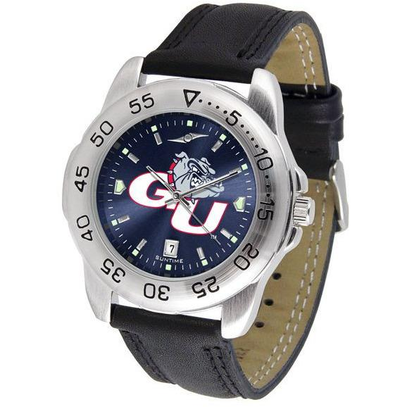 Gonzaga Bulldogs Mens AnoChrome Leather Band Sports Watch-Suntime-Top Notch Gift Shop