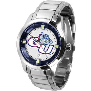 Gonzaga Bulldogs Men's Titan Stainless Steel Band Watch-Watch-Suntime-Top Notch Gift Shop