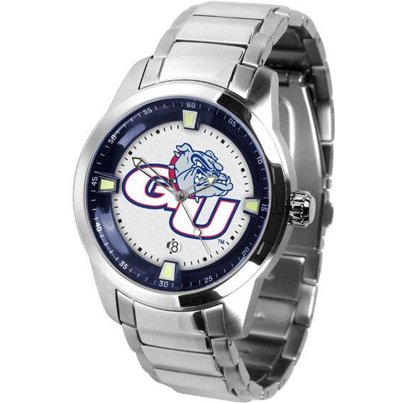 Gonzaga Bulldogs Titan Stainless Steel Band Watch-Suntime-Top Notch Gift Shop
