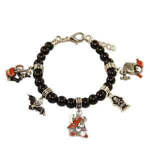 Halloween Charm Bracelet in Silver-Bracelet-Whimsical Gifts-Top Notch Gift Shop