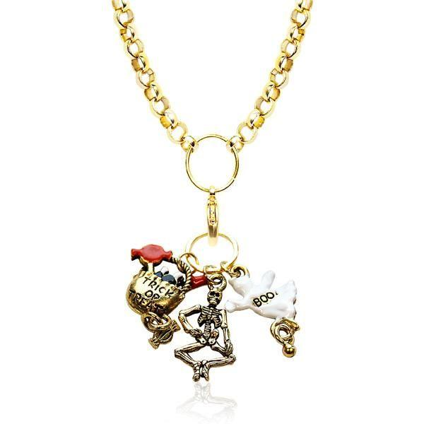 Halloween Charm Necklace in Gold-Necklace-Whimsical Gifts-Top Notch Gift Shop