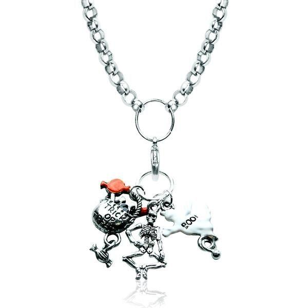 Halloween Charm Necklace in Silver-Whimsical GiftsTop Notch Gift Shop