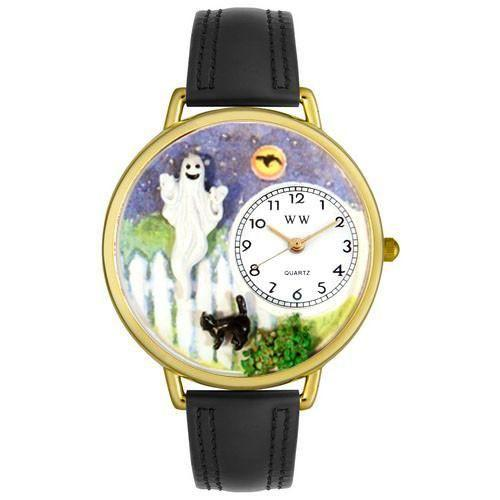 Halloween Ghost Watch in Gold (Large)-Watch-Whimsical Gifts-Top Notch Gift Shop