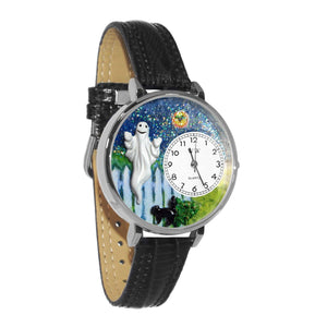 Halloween Ghost Watch in Silver (Large)-Whimsical GiftsTop Notch Gift Shop