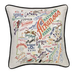 Arkansas Embroidered Catstudio State Pillow-Pillow-CatStudio-Top Notch Gift Shop