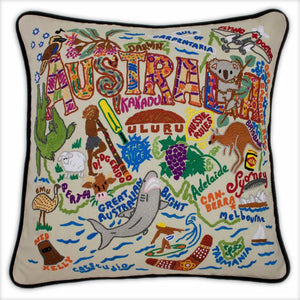 Australia Embroidered CatStudio Pillow-Pillow-CatStudio-Top Notch Gift Shop