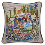 Big Bend Embroidered Catstudio Pillow-Pillow-CatStudio-Top Notch Gift Shop