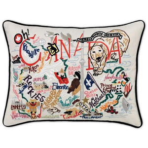 Canada Embroidered CatStudio Pillow-Pillow-CatStudio-Top Notch Gift Shop