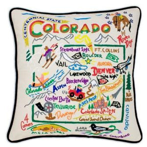 Colorado Embroidered Catstudio State Pillow-Pillow-CatStudio-Top Notch Gift Shop