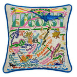 Emerald Coast Hand Embroidered Catstudio Pillow-Pillow-CatStudio-Top Notch Gift Shop